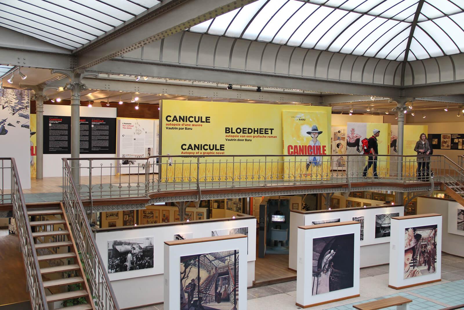 В музее комиксов в Брюсселе