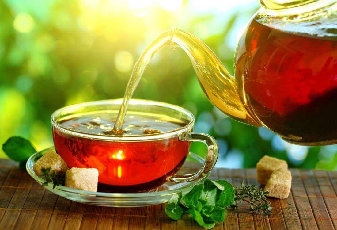 Основной напиток на острове - чай