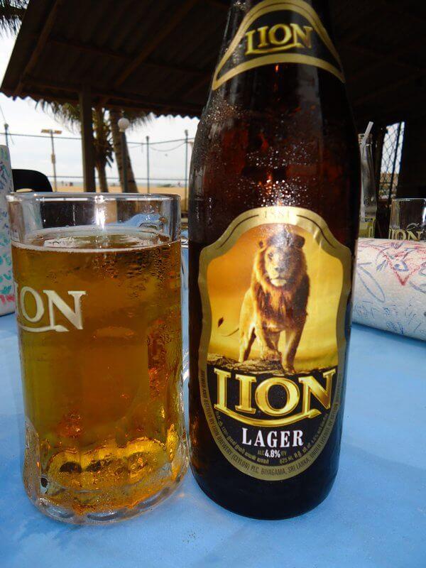 Местное пиво Lion