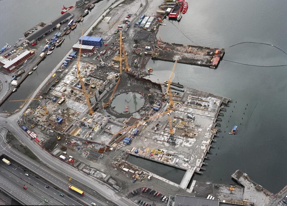 Строительство оперного театра в Осло
