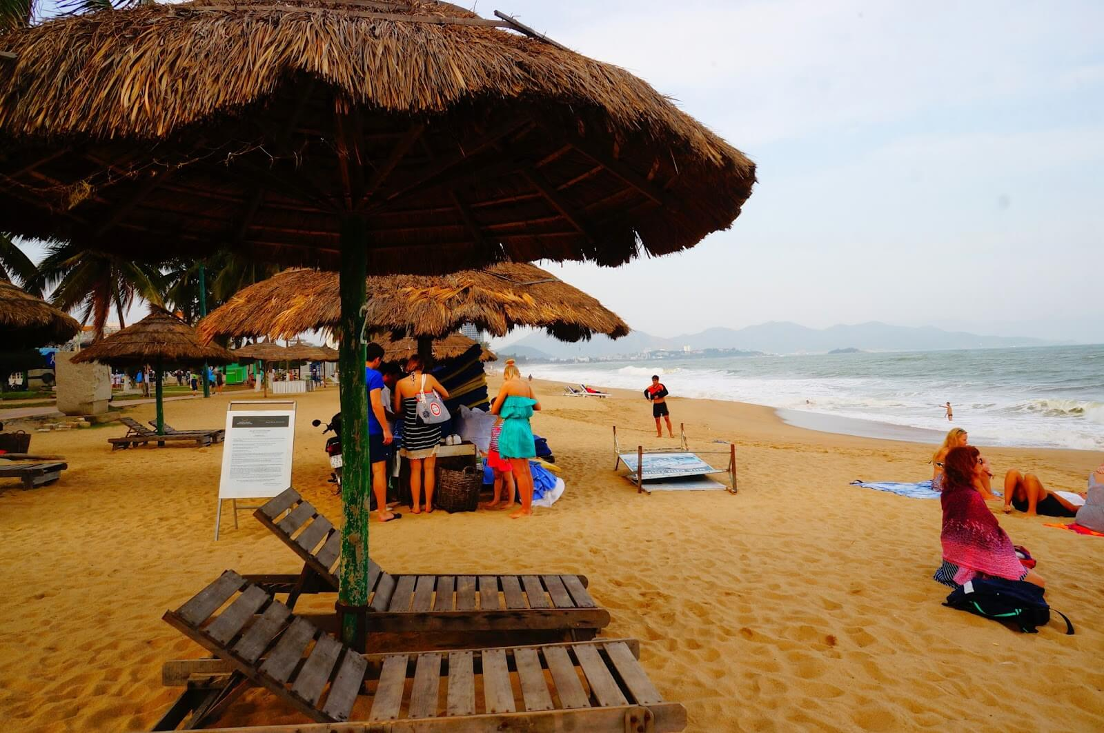 Не погода зимой на пляже Чан Фу