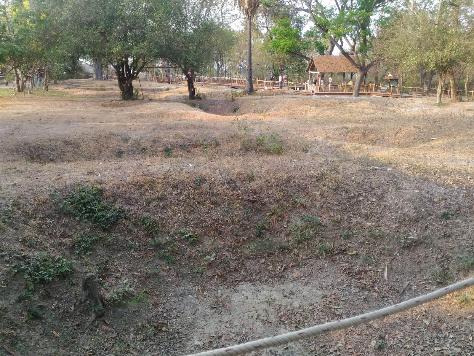 Здесь на меленьком клочке земли было обнаружено 450 трупов