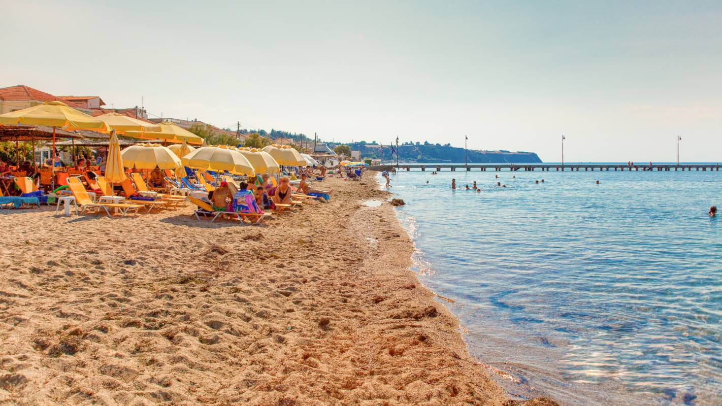 Пляж в поселении Агиа Триада