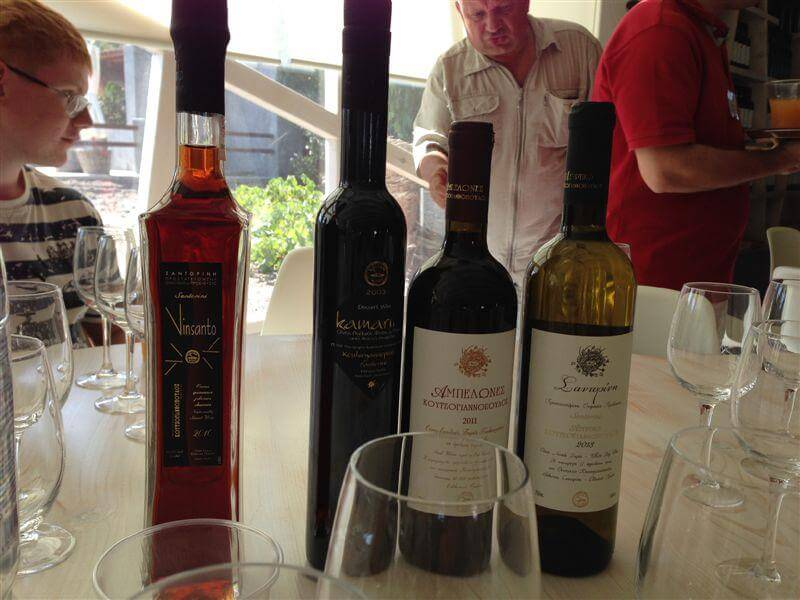 Дегустация вин Санторини