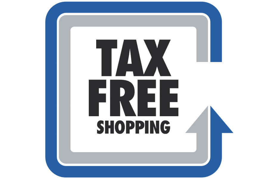 Вывеска Tax Free Shopping