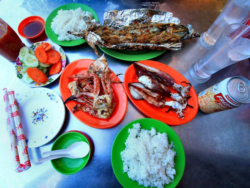 Бизнес-ланч из морепродуктов
