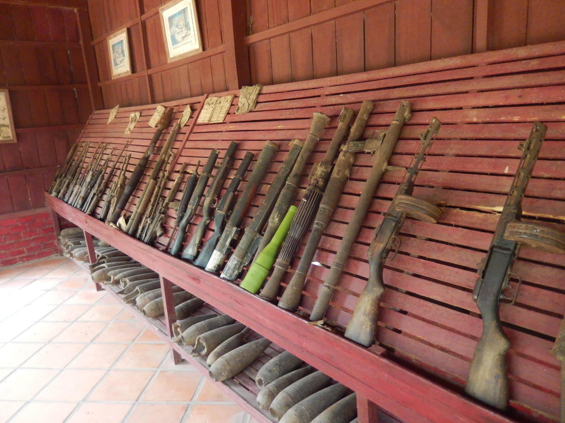 Оружие в музее войны