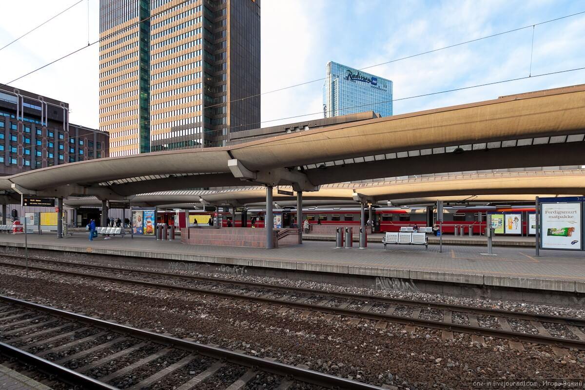 На железнодорожном вокзале в Осло