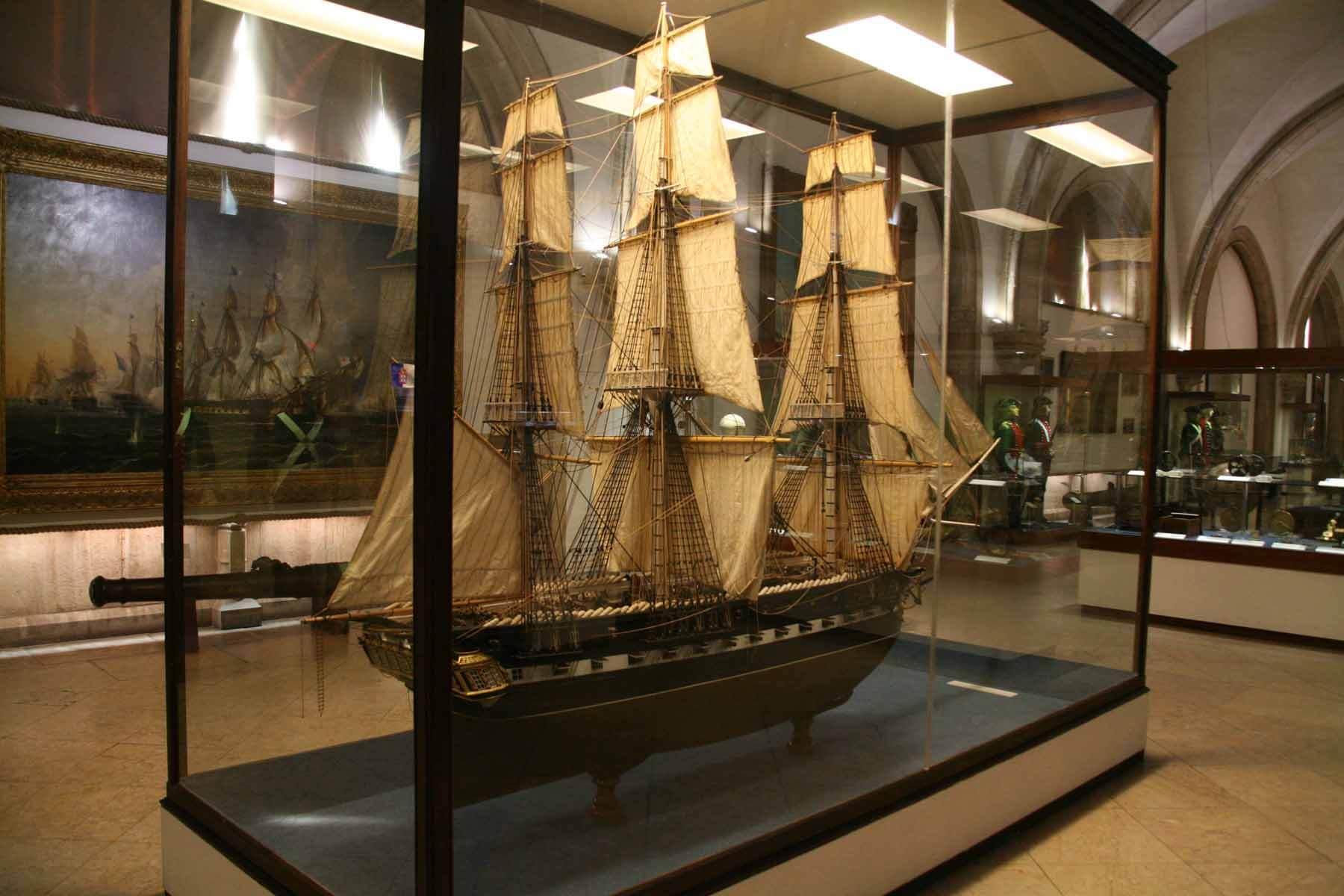 Макет коробя в морском музее