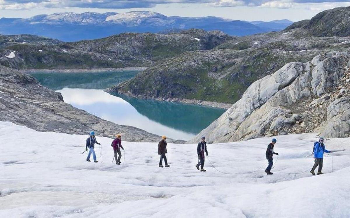 Прогулка по леднику Фолгефонна