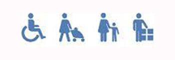 Значки обозначение специальных турникетов
