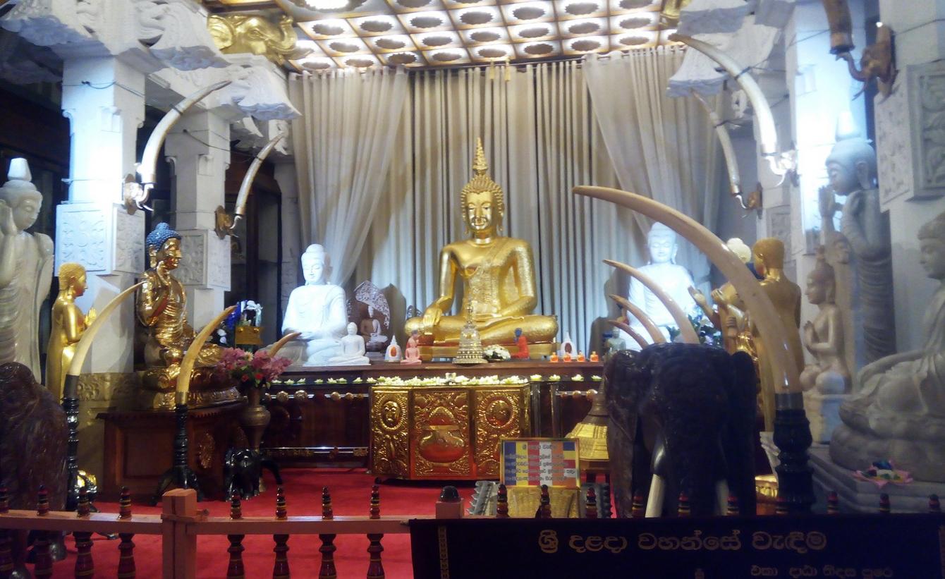 В храме Зуба Будды