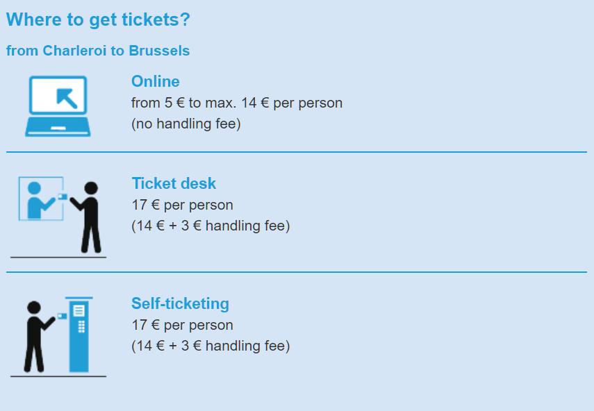 Где купить билеты в аэропорту Шарлеруа на Shuttle