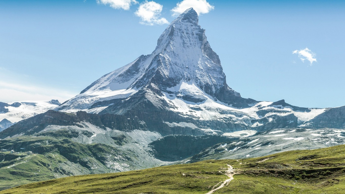 Гора Маттерхорн в Альпах