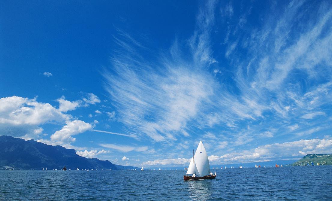 Кораблик на Женевском озере