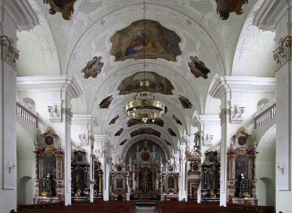 Интерьер Бенедиктинский монастырь, Энгельберг