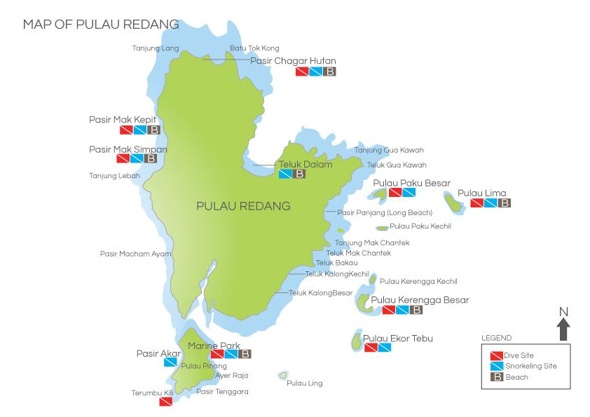 Карта Острова Реданг