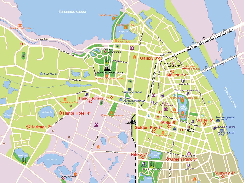 Карта Ханоя на русском языке