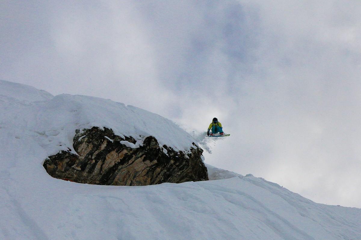 Катание на сноуборде Кран-Монтана