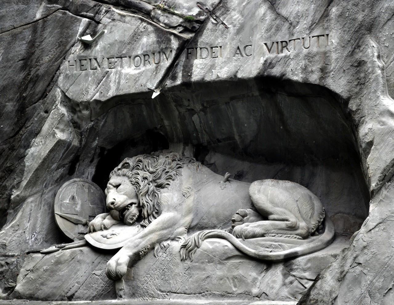 Памятник «Умирающий лев»