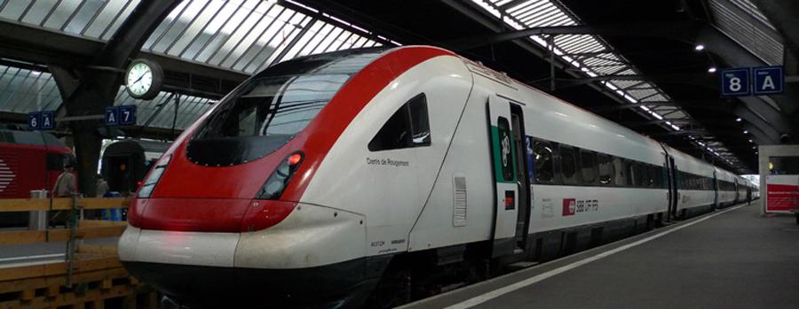 Поезд от станции Zürich HB
