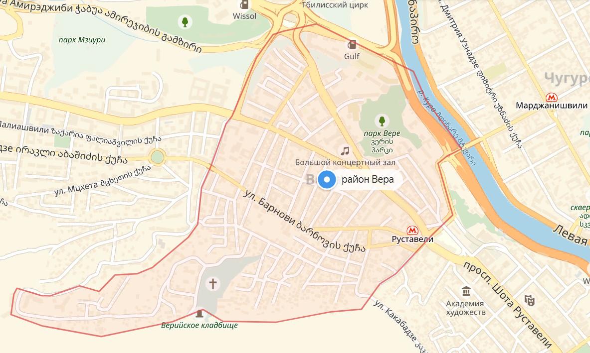 Карта - район Вера