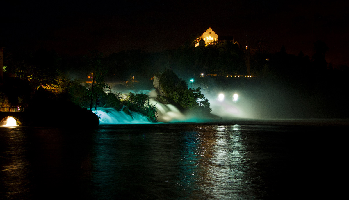 Вечерний вид на водопад