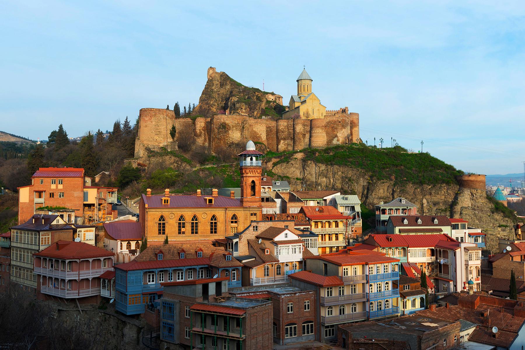 Район Старый город в Тбилиси