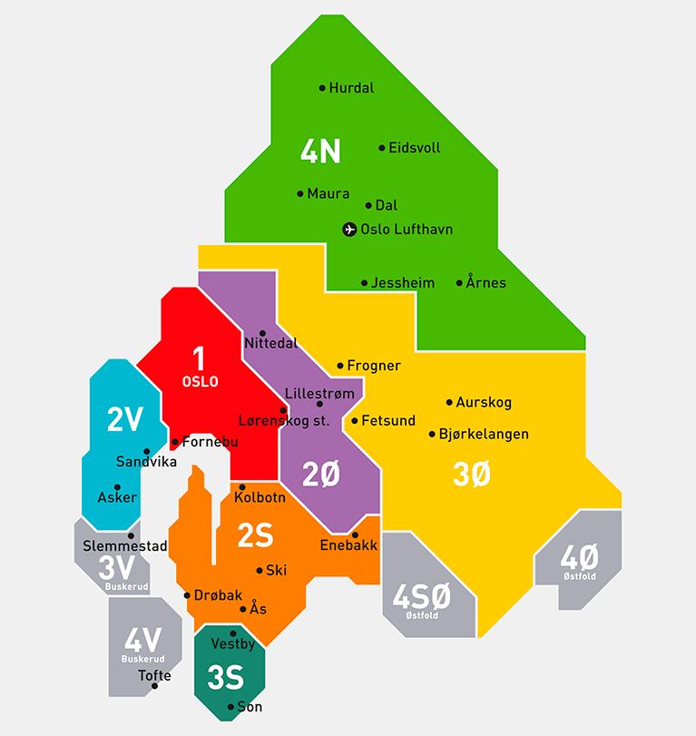 Транспортные зоны в Осло