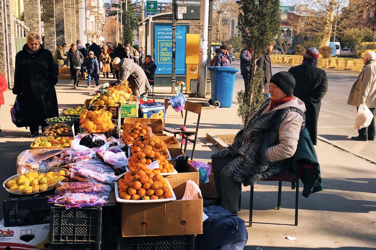 Уличная торговля Тбилиси