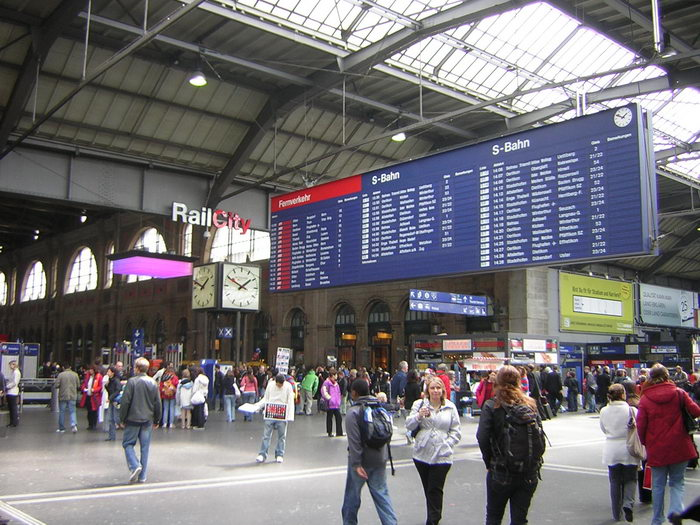 Центральный железнодорожный вокзал Цюриха