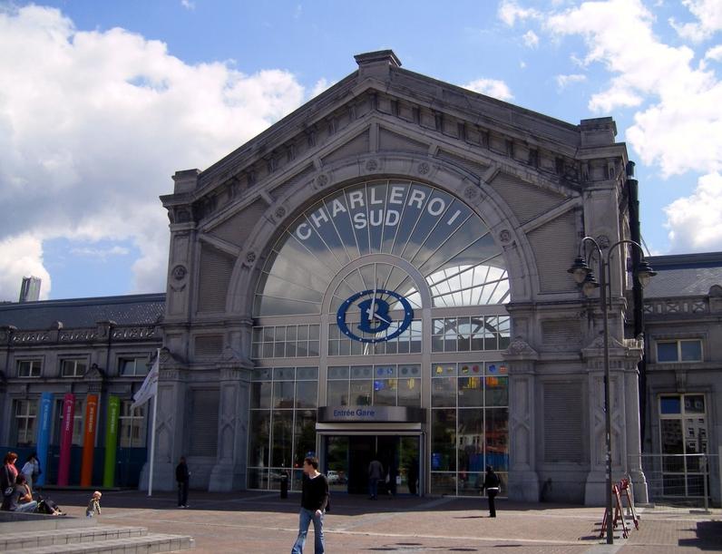 Вид на Ж\д вокзал Шарлеруа