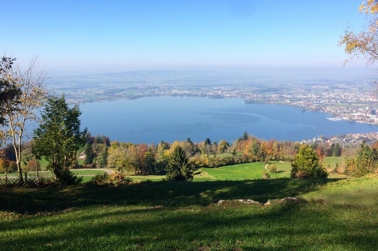Вид с Цугской горы на озеро