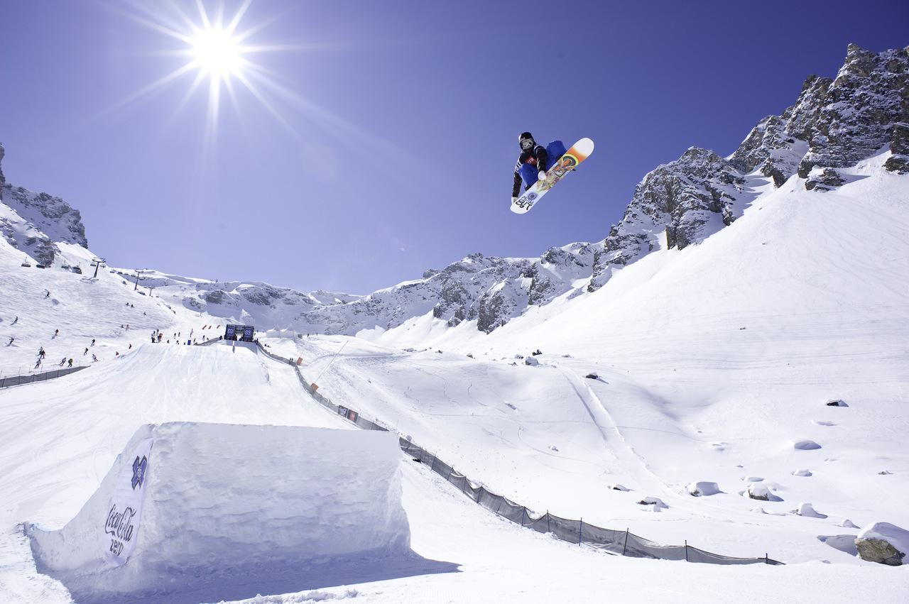 Трамплинами для прыжков сноубордистов