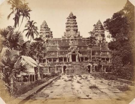 Фотография храма Ангкор-Ват в 1866 году