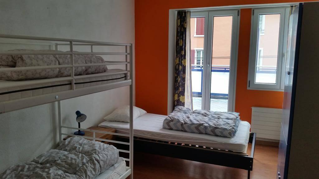 Так выглядит спальное место в общем номере Bellpark Hostel