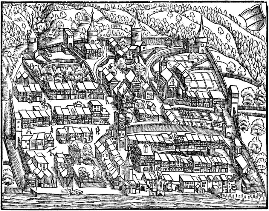 Изображение Цуга в хронике Йохана Штумпфа, 1548г.