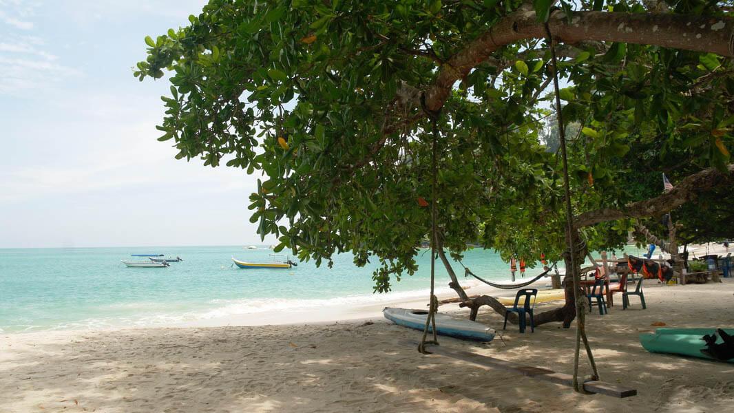 Коралловый пляж на Пангкоре