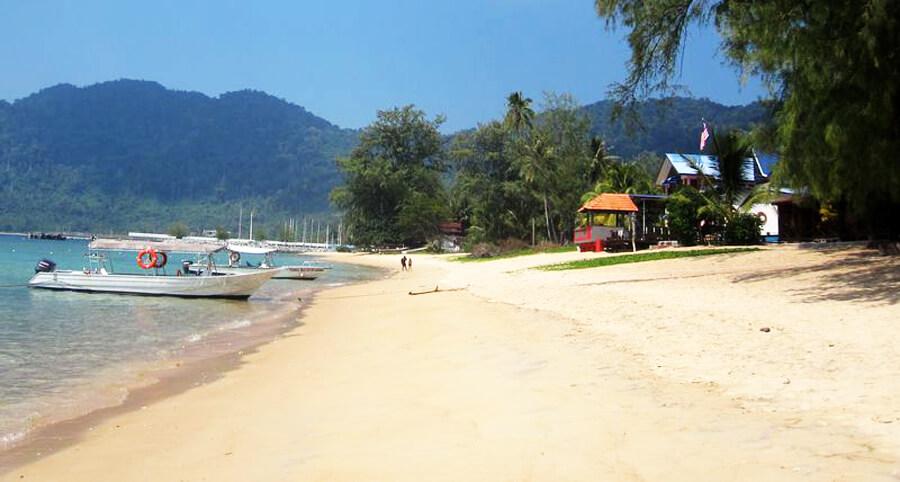 Пляж Текек на острове Тиоман