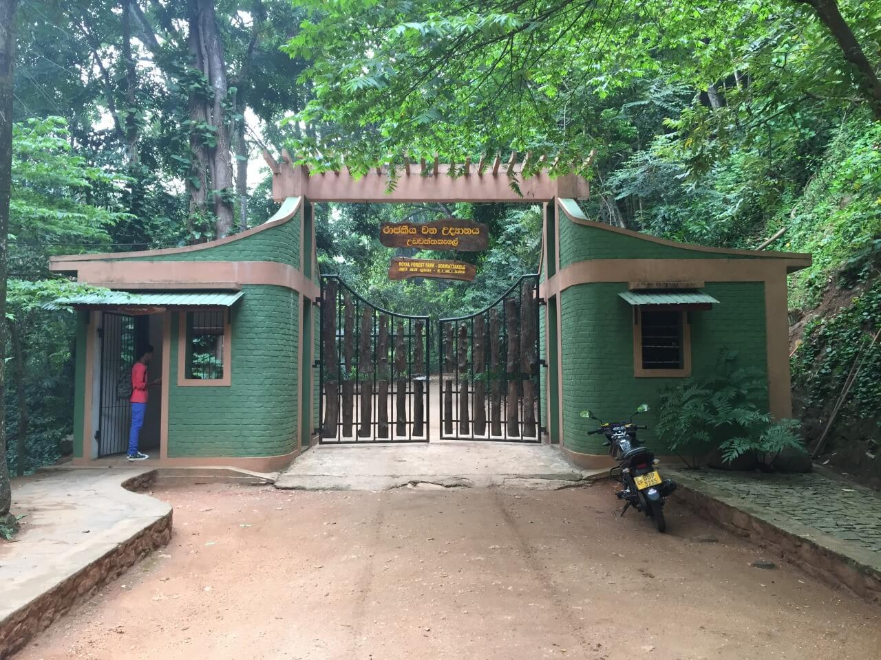 Вход в заповедник Udawatta Kele