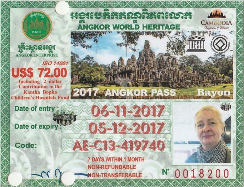 билет Ангкор-Ват