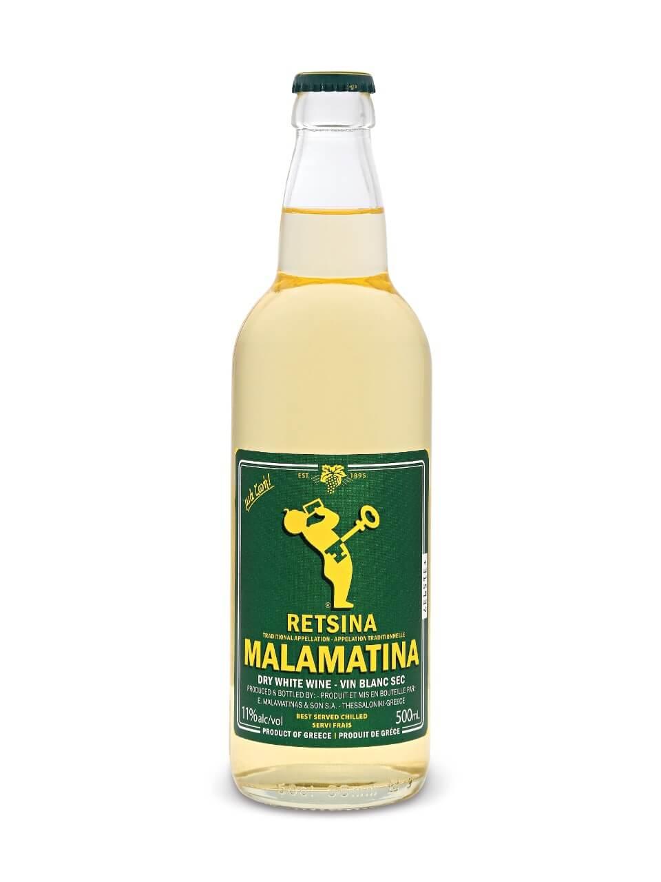 Бутылочка вина «Рецина Маламатина»