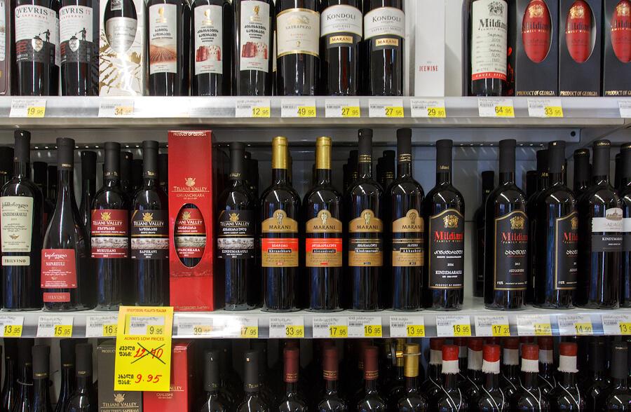 Грузинские вина в сетевом магазине
