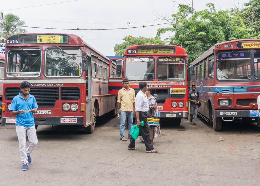 Такие автобусы ездят в Шри-Ланке