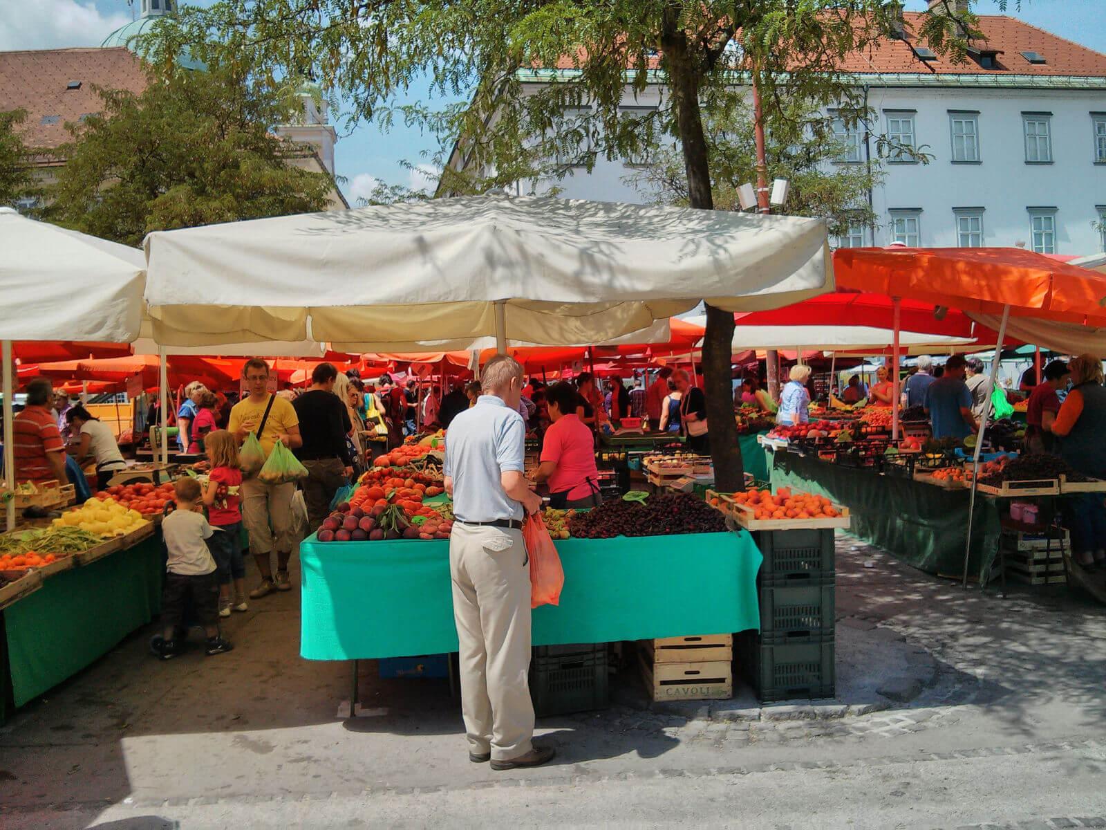 На продовольственном рынке Central Market