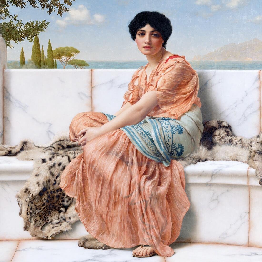 Греческая поэтесса Сафо