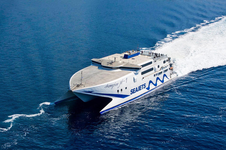 Паром до острова Милос