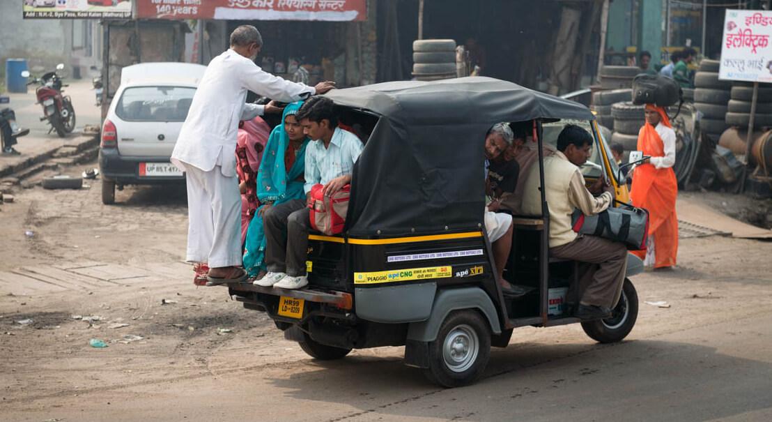 Тук-тук – самый дешёвый вид транспорта в Камбодже