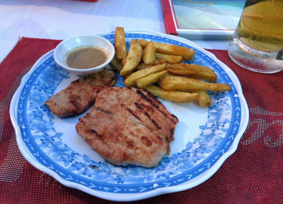 Альтернатива обеда - стейк