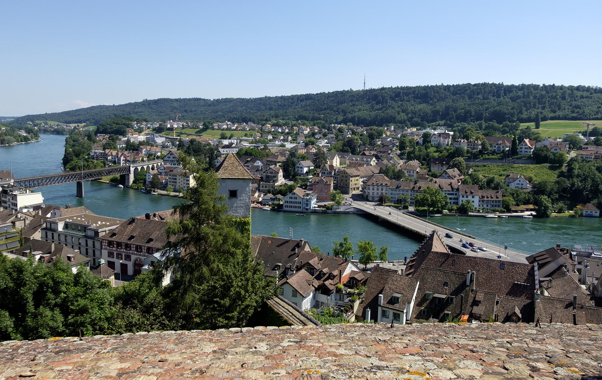 Вид на Шаффхаузен с форта Munot
